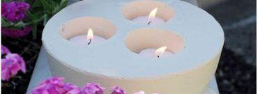 DIY: Cementowe świeczniki