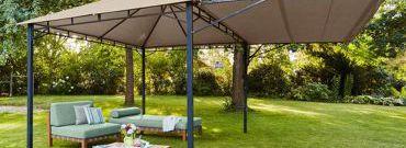 Składany pawilon ogrodowy, duży parasol, czy trwała altana? Jak wypoczywać w ogrodzie?