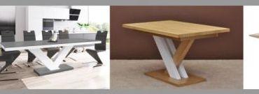 Stół vintage z nogami w kształcie X i inne warianty stołów vintage