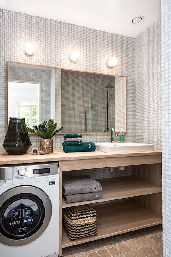 Zabudowa pralki w azience galeria 15 pomys w for Idee salle de bain 5m2