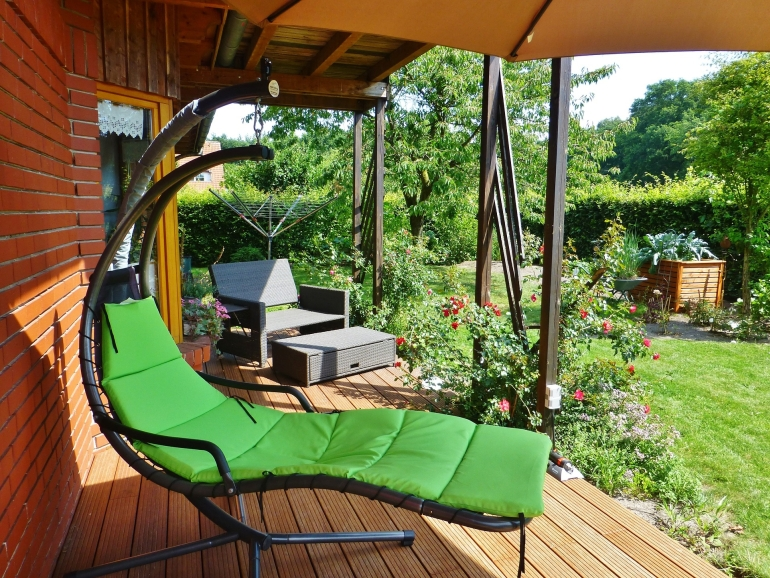 Pomys y na przydomowy taras - Coin terrasse jardin argenteuil ...