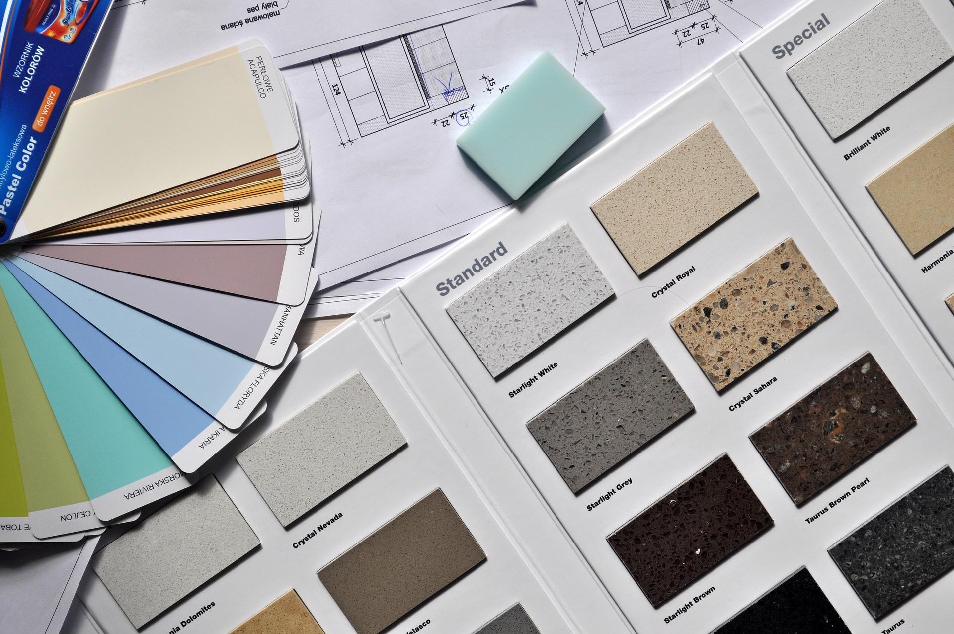 Próbki farb - architekt wnętrz
