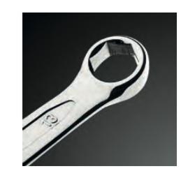 Klucz płasko-oczkowy z oczkiem sześciokątnym 09-406 (uzw)