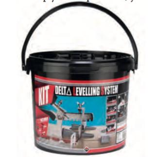 Delta Levelling System (uz) – system poziomowania płytek podłogowych i ściennych (02848)