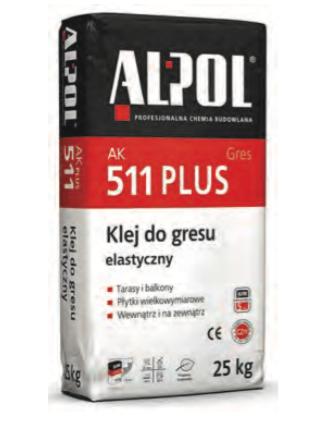 Klej do gresu elastyczny AK 511 PLUS (tuz)